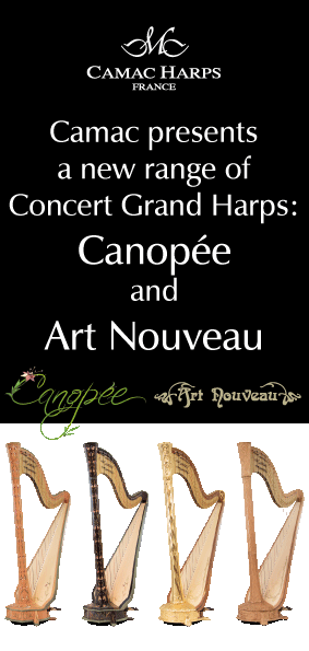 Pacific Harps Camac new harps - Canopee and Art Nouveau